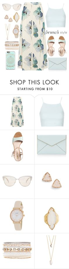 """""""Brunch style"""" by samang ❤ liked on Polyvore featuring Tory Burch, Topshop, Pier 1 Imports, Rebecca Minkoff, Oliver Peoples, Kendra Scott, Kate Spade, HEATHER BENJAMIN, Lane Bryant and With Love From CA"""