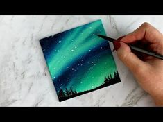 Drawing a night sky with soft pastels | Leontine van vliet - YouTube