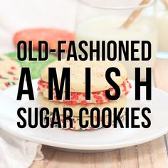 Old-Fashioned Amish Sugar Cookies are just what you need with your glass of milk! Perfect for the holidays! These Amish Sugar Cookies are the comforting, delicious cookies your grandmother used to bake! Old Fashioned Sugar Cookies, Amish Sugar Cookies, Cinnamon Sugar Cookies, Cinnamon Biscuits, Sugar Cookies Recipe, Yummy Cookies, Best Cookie Recipes, Brownie Recipes, Holiday Recipes