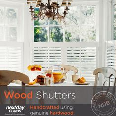 Quality Hardwood Shutters Now Choose From Our Robust Selection Of Custom Choices At Next Day Blinds