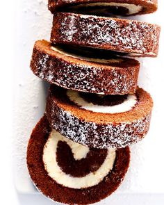 Chocolate Roll Cake with Cream Cheese Filling by @gimmesomeoven. The best part about roll cakes is they are customizable to whatever filling you desire.
