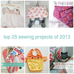 Sewing Top Top 25 Sewing Projects of 2013 - Resource full of sewing inspiration - A collection of the top 25 sewing projects that were featured throughout the year on From Dream To Reality. Diy Sewing Projects, Sewing Hacks, Sewing Tutorials, Sewing Crafts, Diy Crafts, Sewing Tips, Sewing Ideas, Diy Tipi, Pochette Diy