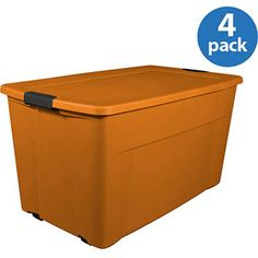 45-Gallon Wheeled Tote, Set of 4