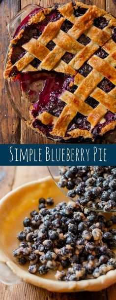Want a blueberry pie recipe that stands the test of time? This one is it! Recipe and homemade pie crust on sallysbakingaddic...