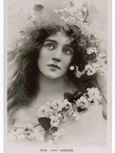 Amy Webster Actress, Looking Like a Pre-Raphaelite Model Photographic Print