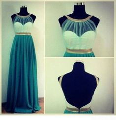 Amazing Green Sweetheart Chiffon Simple Long Prom by LoverDress, $149.00