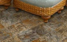 Stone  Stone and slate flooring are timeless classics, but all that tradition comes at a cost. If you aren't up for the investment, or if you're evaluating options for a short-term living situation, stone-patterned vinyl is an economical substitute.