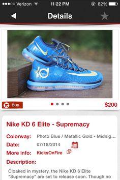 Kd's 2014 Kd 6, Kd Shoes, Photo Blue, Asics, Nike, Sneakers, Fashion, Tennis, Moda