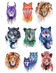 New drawing wolf tribal art Ideas Mythical Creatures Art, Fantasy Creatures, Cute Animal Drawings, Cute Drawings, Watercolor Animals, Watercolor Art, Fox Art, Tier Fotos, Animal Tattoos