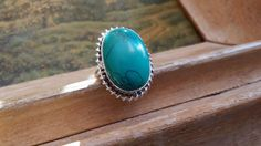 Check out this item in my Etsy shop https://www.etsy.com/listing/263646659/turquoise-size-65-ring-gemstone-925