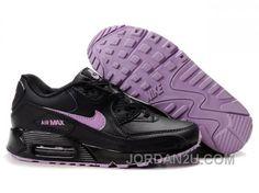 separation shoes 1212c ddd1b billiga 2014 Nike Air Max 90 F r Dam Skor Svart Purpur online rea Air Max