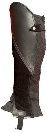 Gaiters Half Chaps 183383: Black Suede With Black Leather Classic Comfort Gaiters BUY IT NOW ONLY: $49.99