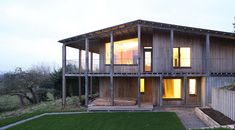 A real winter warmer: Designed by Prewett Bizley Architects, Dundon Passivhaus is a extremely low-energy self-built house on the edge of a Somerset village