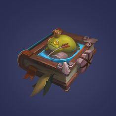 ArtStation - The frog princess book, saturn cg Prop Design, Game Design, Game Concept, Concept Art, Frog Princess, Game Item, Magic Book, Art Tutorials, Game Art