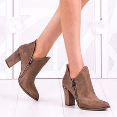 Botine Dama Caylin Bej Booty, Ankle, Shoes, Fashion, Moda, Swag, Zapatos, Wall Plug, Shoes Outlet