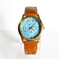 New Perfect Denim  Watch Vintage Style Leather Watch by FreeForme, $15.00