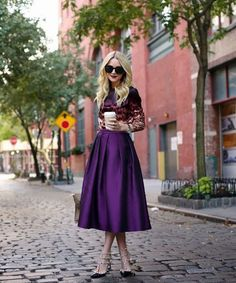 I WANT THIS SKIRT!!!! $15.99- Purple Empire Waist Mid-Calf Skirt – Korrine's Fashion Boutique