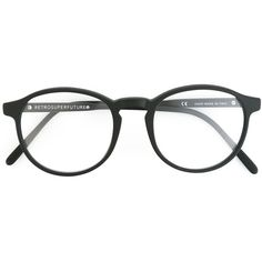 Retrosuperfuture Numero 01 Glasses ($150) ❤ liked on Polyvore featuring accessories, eyewear, eyeglasses, glasses, black, acetate glasses, retrosuperfuture, retrosuperfuture eyeglasses, retrosuperfuture glasses and unisex glasses