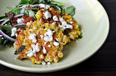 Corn Cakes with Goat Cheese by Courtney | Cook Like a Champion, Mmmm gotta try this with fresh sweet corn!
