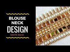 Blouse Neck design ! Aari Work full tutorial ! hand Embroidery ! Aari Work - YouTube