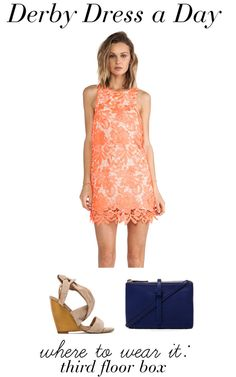 Derby Dress a Day * What to wear to Derby * #LWWDoesDerby #KentuckyDerby * Coral Lace Shift Dress