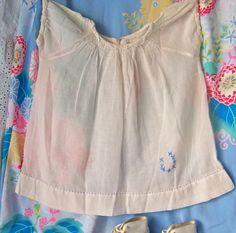 Vintage Baby Dress 1950s White Baby Dress by cynthiasattic on Etsy, $24.00