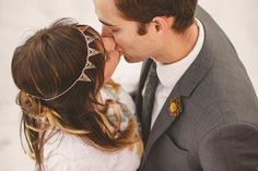 Unique geometric headpiece for modern brides