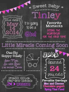 signs for baby showers | 13.50 | Baby Shower Chalkboard Sign