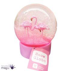 2ecd46518a896 Flamingo Fun Snow Globe | Map's Flamingo Flair | Snow globes, Unicorn snow  globe, Pink snow
