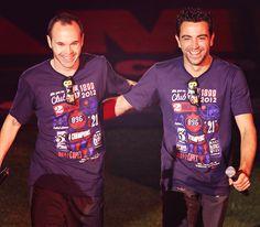 Iniesta y Xavi