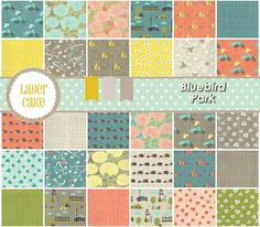 Bluebird Park - Charm Pack (13100PP)-  by Kate and Birdie Paper Co. for Moda on Etsy, $9.75