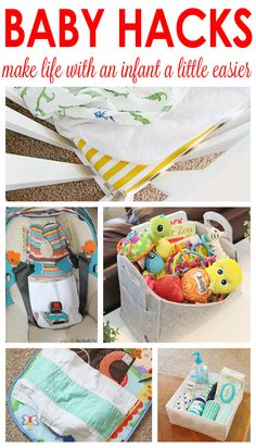 GREAT baby hacks! Tips and tricks to make life with an infant a little easier!