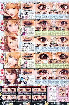 cute gyaru eye makeup
