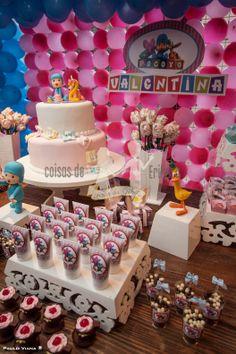 Coisas de Erikota: Festa do Pocoyo para meninas:Valentina 2 anos!