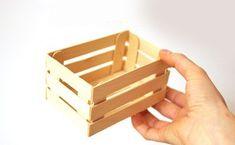 Usa palitos de madera y crea lindas cajitas para obsequios - Dale Detalles