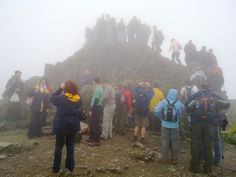 This is the typical summit view, mid afternoon in mid summer. Go early, or later for a much better experience.