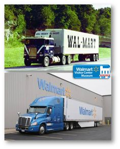 walmart then and now today walmart has one of the largest and safest private fleets in the u s. Black Bedroom Furniture Sets. Home Design Ideas