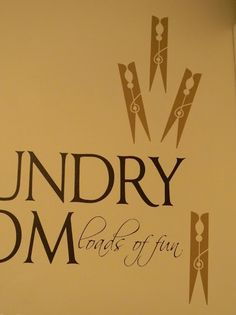"cute laundry room sign... ""loads of fun"""
