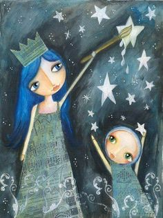 painting stars.