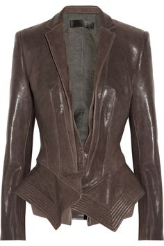 Haider Ackermann | Leather peplum jacket
