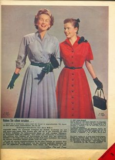 Lovely gloves and classic shirtwaist dresses