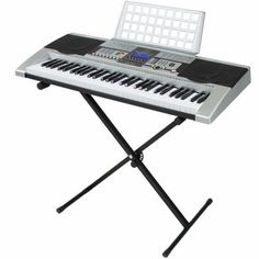 61 Key Digital Piano Electronic Keyboard Music Instrument With Stand LCD Display Acoustic Guitar Kits, Digital Piano, Keyboard, Music Instruments, Sky, Display, Electronics, Heaven, Floor Space