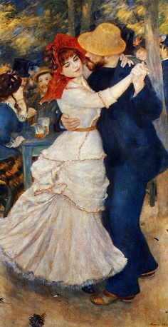 """Dance at Bougival"" circa 1883, by Pierre-Auguste Renoir (1841-1919). #Victorian #Art"