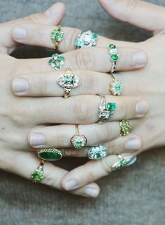 Love the unique style of emerald vintage engagement rings.