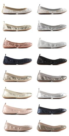 Yosi Samra foldable BRIDAL flats!! Perfect for any Bride and her Bridal Party!