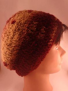 Slouchy Beanie Hand Crocheted Great Patterning by toppytoppy, $18.00