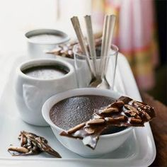 """Chocolate Creme Brulee is sure to cure your """"chocolate craving."""" It is a rich and decadent chocolate dessert perfect for serving at a dinner party. Just Desserts, Delicious Desserts, Dessert Recipes, Yummy Food, Party Desserts, Flan, Chocolate Creme Brulee, Chocolate Cream, Brulee Recipe"""
