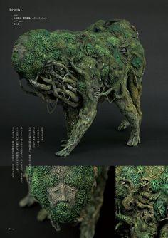 Forest Creatures, Magical Creatures, Fantasy Creatures, Sculpture Art, Sculptures, Game Character Design, Monster Design, Creature Concept, Medieval Art