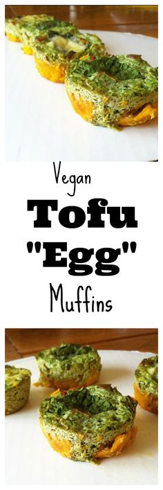 "Need a grab and go breakfast? Make these easy #vegan Tofu ""Egg"" Muffins! These are the perfect way to start your day! #healthy #glutenfree"