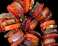 DSG Beads Organic Lampwork Glass Made To Order by debbiesanders, $130.00